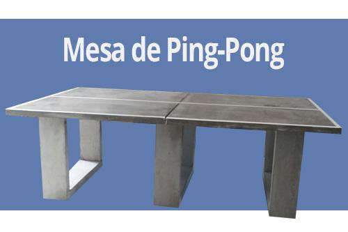 4863b4401 Mesa de ping-pong de Concreto