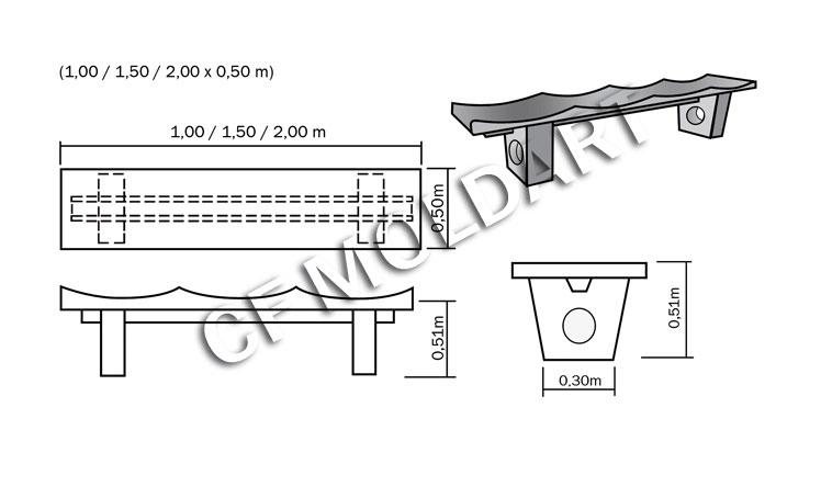 banco de jardim medidas : banco de jardim medidas:pés obs para a montagem as peças são sobrepostas para maior